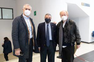 Fabrizio Micari Rettore Unipa, Mario Barbagallo Presidente del Conservatorio, Daniele Ficola Direttore del Conservatorio